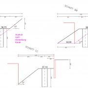 Ausführungsskizze Kanalherstellung KM6,73-Schnitte