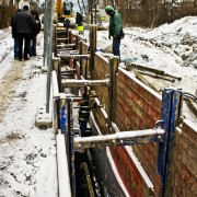 Gigan Allround Verbausysteme: Kanalbau Winter